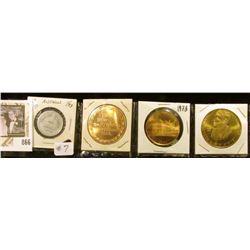Anthon Ia - Craig's Tavern token, 1957 Newton Centennial, 1973 Webster City Coin, 1976 Emmetsburg Ir