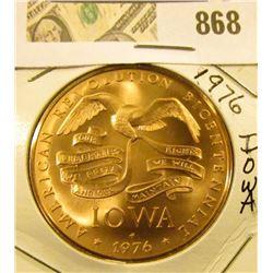 Iowa 1976 American Revolution Bicentennial Coin So-called Plow Medal.