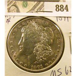 Morgan $ 1891  MS 62
