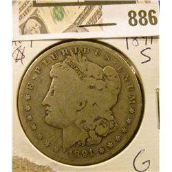 Morgan $ 1891-S  G