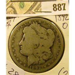 Morgan $ 1892-O  G