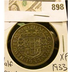 1933 New Zealand Half Crown XF  NGC price guide $45