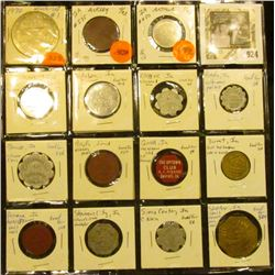 14 different 'Good for' Iowa tokens, 1 Winterset 1970 coin
