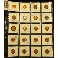 Sheet of High Grade Lincoln Memorials & a few error coins
