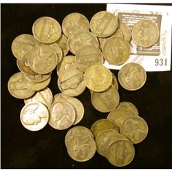 40 Jefferson WAR Nickels - Circulated