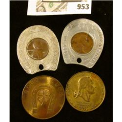 Good luck tokens - includes 2 horseshoe Wheat pennies
