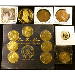 Presidential grab bag - includes 2 Herbert Hoover Inaugural medals, also a Warren G Harding for pres