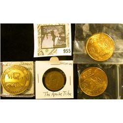 2 Apollo 1RST Lunar Landing 1969 Medals,  1936 Arkansas Sesquicentennial Medal, Geronimo Apache toke