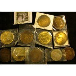 11 Central IA Centennial Town Medals, includes Marshalltown, Ferguson, Rhodes, Gilman, Montour, IA V