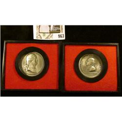 First 2 medals issued in 1974  Americas First Medals  series, Washington before Boston & General Hor