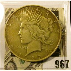 1927 D U.S. Silver Peace Dollar. Fine.