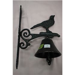 Black Metal Bell Bird Motif
