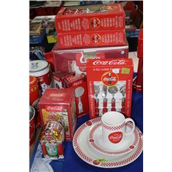 Coca Cola  Set - Dishes; Cutlery; Salt/Pepper; Serving Spoons; Pizza Cutter; Cookie Plate & Tumbler