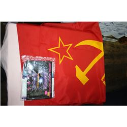 Two Flags - Russian & Other Flag; also Miniature Animals
