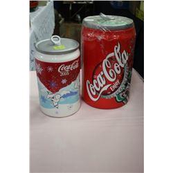 Two Coca Cola Cookie Jars