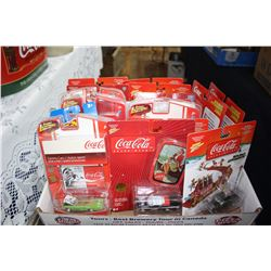 Box with 18 Coca Cola Toys in Original Packaging