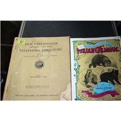 2 Books - Wildlife Almanac & 1947 New Westminster Telephone Directory
