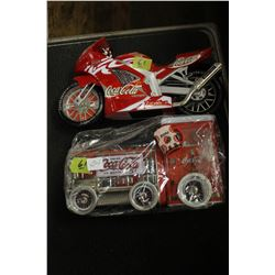 Coca Cola Motorcycle & Train - Motorcycle is damaged