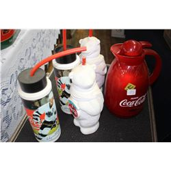 Coca Cola - 4 Beverage Holders & Thermos Pitcher