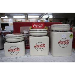 Coca Cola 3 pc. Cannister Set