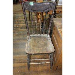 Pressed Back Kitchen Chair