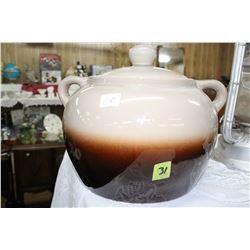 Large Ceramic Bean Pot with Lid