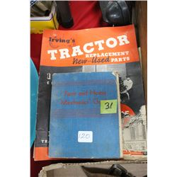 4 Tractor booklets & 1 Farm & Home Mechanics Guide