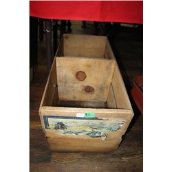 Double Compartment Wooden Box