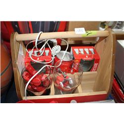 Coca Cola 6 Pack Carry Box with Telephone & Other Coca Cola Misc. Items