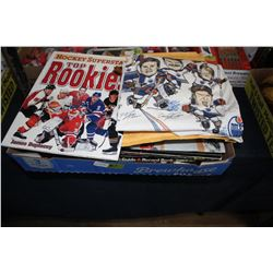Flat with Hockey Magazines, Cards, Official Guide, etc.