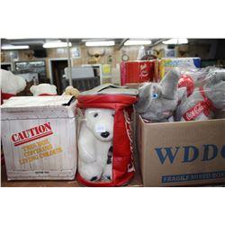 4 Stuffed Toys  - Elephant, Seal, Polar Bear & Specialty Bear