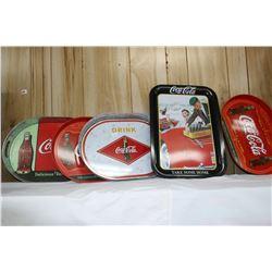 Five Coca Cola Trays