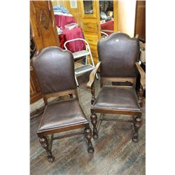 Dining Room Chairs - 5 and 1 Captains Chairs - circa 1920's