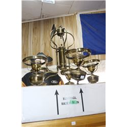 Brass Chandelier with Globes