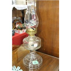 Clear Font and Base Coal Oil Lamp