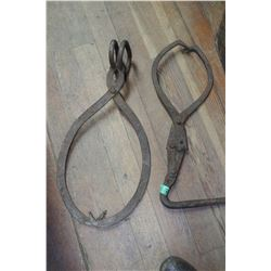 Two Ice Tongs