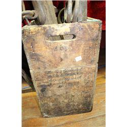 Wooden Water Bottle Box