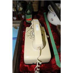 Vintage Beige Wall Dial Telephone