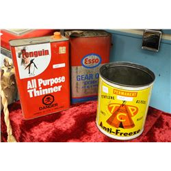 3 Vintage Tins - Esso, Penguin and TCP
