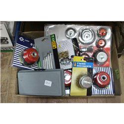 Box with Miscellaneous Drill Attachments