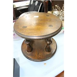 Footed Wooden Plant Stand