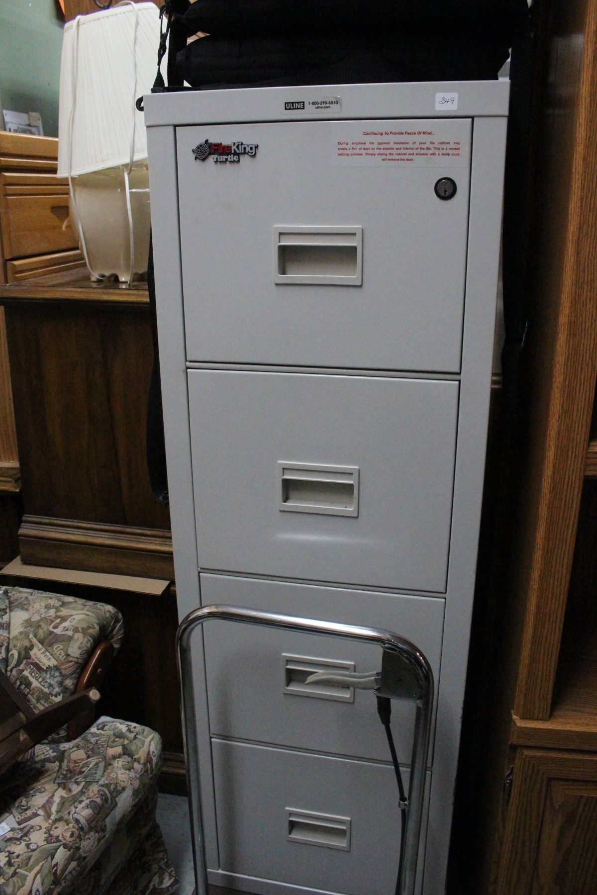 Fireproof 4 Drawer Lockable Filing Cabinet