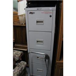Fireproof 4 Drawer Lockable Filing Cabinet