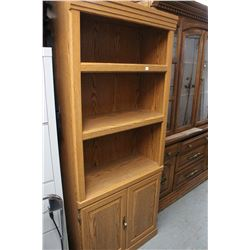 2 Bookcases with Bottom Cupboards