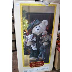 Christmas Bear in a Box & Outdoor Christmas Santa Lights