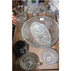 Flat of Miscellaneous Glassware