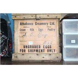 Athabasca Creamery Egg Crate