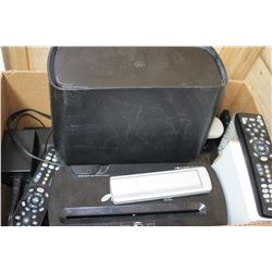 Flat of Electronics - TV Remotes, Printer, etc.