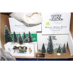 Dickens Village Series Christmas Ornaments - 6 pcs
