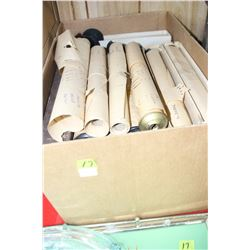 Large Box of Player Piano Rolls - approx. 3 to 4 dozen